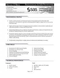 Entry Level Sas Programmer Resume Senior Java Developer Resume Sample Sas Programmer Cover Letter