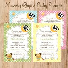 nursery rhyme baby shower nursery rhyme baby shower or birthday invitation u print