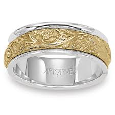 two tone mens wedding bands 11 wv4309 lyric two tone 14kt gold mens wedding band from