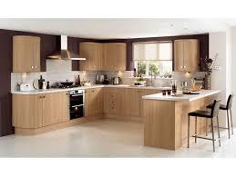 cuisine équipée bois clair en photo