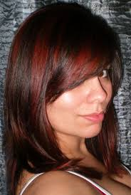 Red Hair Color With Highlights Pictures Tag Dark Red Hair Color With Blonde Highlights Hairstyle