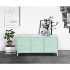 chambre enfilade enfilade armoire commode cabinet métal 3 portes vert achat vente