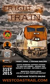 fright train vintage halloween train santa barbara to san luis
