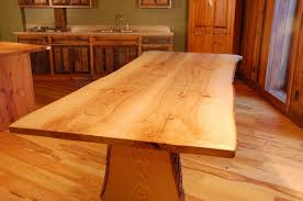 Living Edge Dining Table Hand Crafted Live Edge Ash Slab Dining Table By Corey Morgan Wood