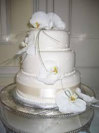 beautiful wedding cake decorations flowers with phalanopsis
