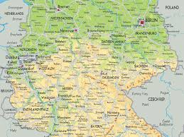 geographical map of germany germany geographical map major tourist attractions maps