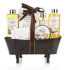 bath gift set spa gift basket nature spa vanilla enriched with