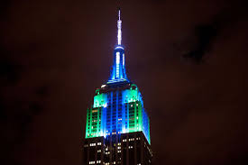 halloween new york city leds light up nyc for the empire state building halloween light