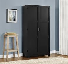 amazon com ameriwood home carver 64 storage cabinet black amazon com ameriwood home carver 64 storage cabinet black kitchen dining