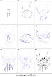how to draw henry hermit crab from dinosaur train printable step