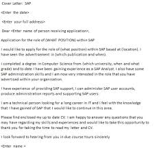 sap functional analyst cover letter