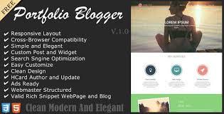 service portfolio blogger template
