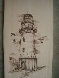 drawn lighthouse ocean pencil and in color drawn lighthouse ocean