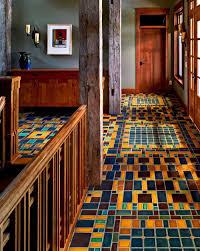 color mosaic floor motawi tileworks