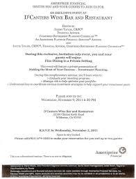 Js Prom Invitation Card Designs Ameriprise Financial Invites You To Dinner Menifee 24 7