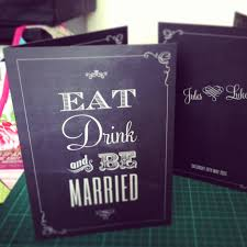 Eat Drink And Be Married Invitations Eat Drink And Be Married Wedding Menus Wedfest