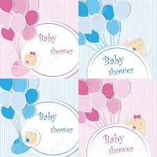 baby shower posters set of baby shower background for greeting card banners
