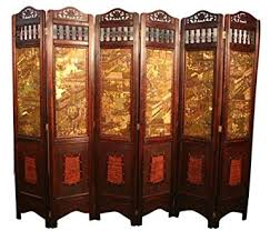 amazon com vintage oriental style 6 panels screen room divider