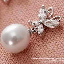 earing studs silver butterfly pearl stud earrings ewaer030 as low