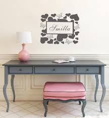customer made hearts and butterfly wall art stickers room vinyl customer made hearts and butterfly wall art stickers room vinyl decals with your kids name name wall decals name wall stickers from flylife 6 54 dhgate