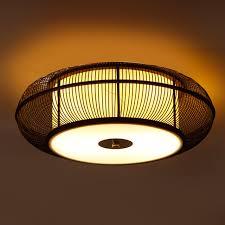 Japanese Ceiling Light Dia 46 56cm Bamboo Knitted Ceiling Light Japanese Asia Style