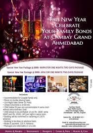 new year packages with room stay cambay hotels resorts book