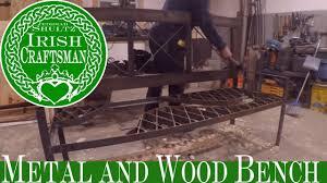 metal and wood bench functional art ic12 diy youtube