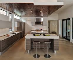 soffit ceiling kitchen contemporary with open floor plan