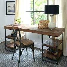wood and wrought iron table wrought iron desk antique stripped oak desk with wrought iron