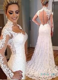 high neck bridal wedding dresses modest rustic lace romance