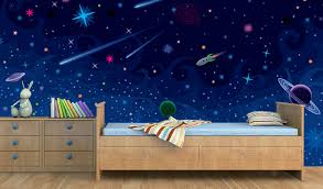 Kids Space Room by Space Theme Wallpaper For Kids Room