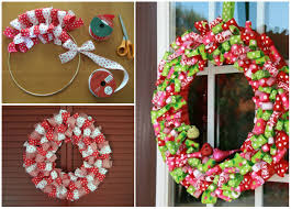 christmas wreaths to make wonderful diy easy ribbon christmas wreath