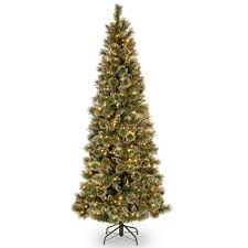 national tree company 7 5 ft glittery bristle slim pine