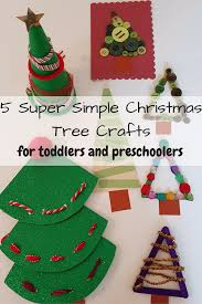 5 simple christmas tree crafts for toddlers odd socks and lollipops