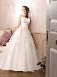 lace wedding dress with belt strapless lace applique organza bridal gown with belt