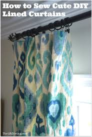 Should Curtains Touch The Floor Or Window Sill How To Sew Cute Lined Diy Curtains Thrift Diving Blog