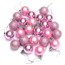 compare prices on pink christmas ornaments balls online shopping