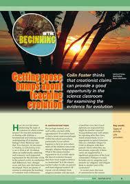 new curriculum focus getting goosebumps about teaching evolution