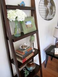 31 Md 00510 Ladder Shelves by 4 Tiers Bookshelf High Gloss Ladder Free Standing Shelves Storage