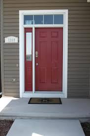red paint front door d