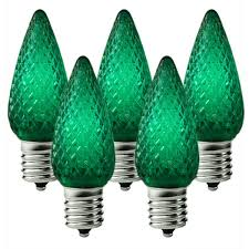 green c9 led replacement bulbs 25 pack