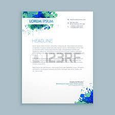 Business Letterhead Design Vector Beautiful Creative Letterhead Design Royalty Free Cliparts