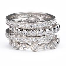 stackable diamond rings best 25 stackable diamond rings ideas on stackable