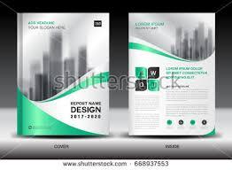 annual report brochure flyer template green stock vector 668937553