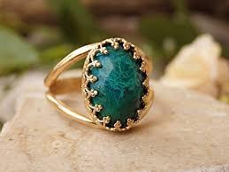 green gemstone rings images Green gemstone ring israeli rings spiritual stone eilat etsy jpg