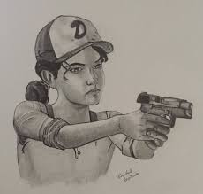 clementine from the walking dead game season 3 by habeasart on