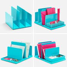 Cool Office Desk Accessories by Poppin Aqua Fin File Sorter Desk Accessories Cool And Modern