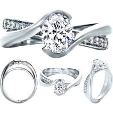 intertwined wedding rings oval diamond twisted criss cross pave engagement ring and in