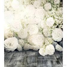 wedding backdrop flower wall 3d white roses flower wall backdrop wedding floor