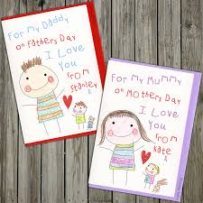 Mother S Day Greeting Card Handmade Colouring In Personalised Birthday Or Mothers Day Card By The